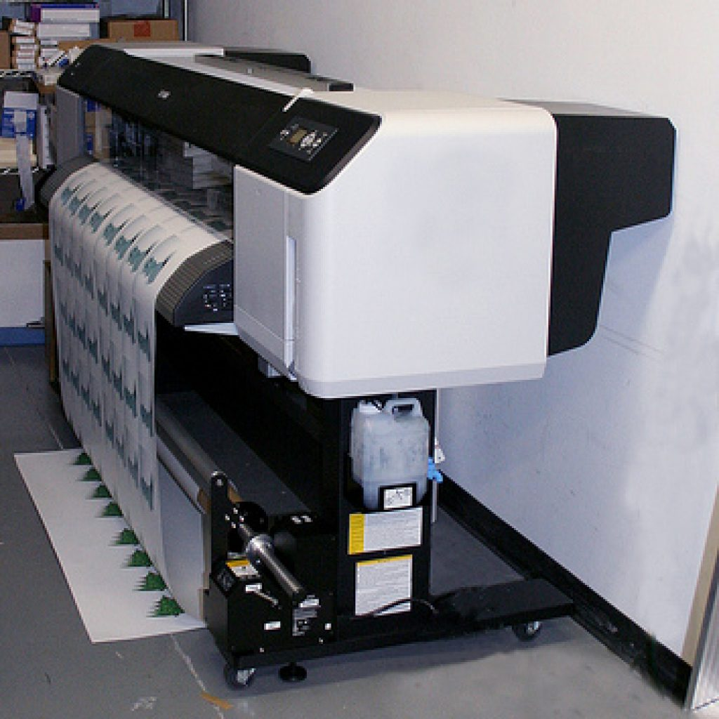Large wide format printer in an office