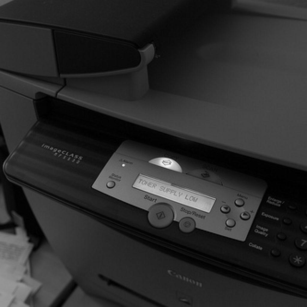 Printer warning of low toner supply