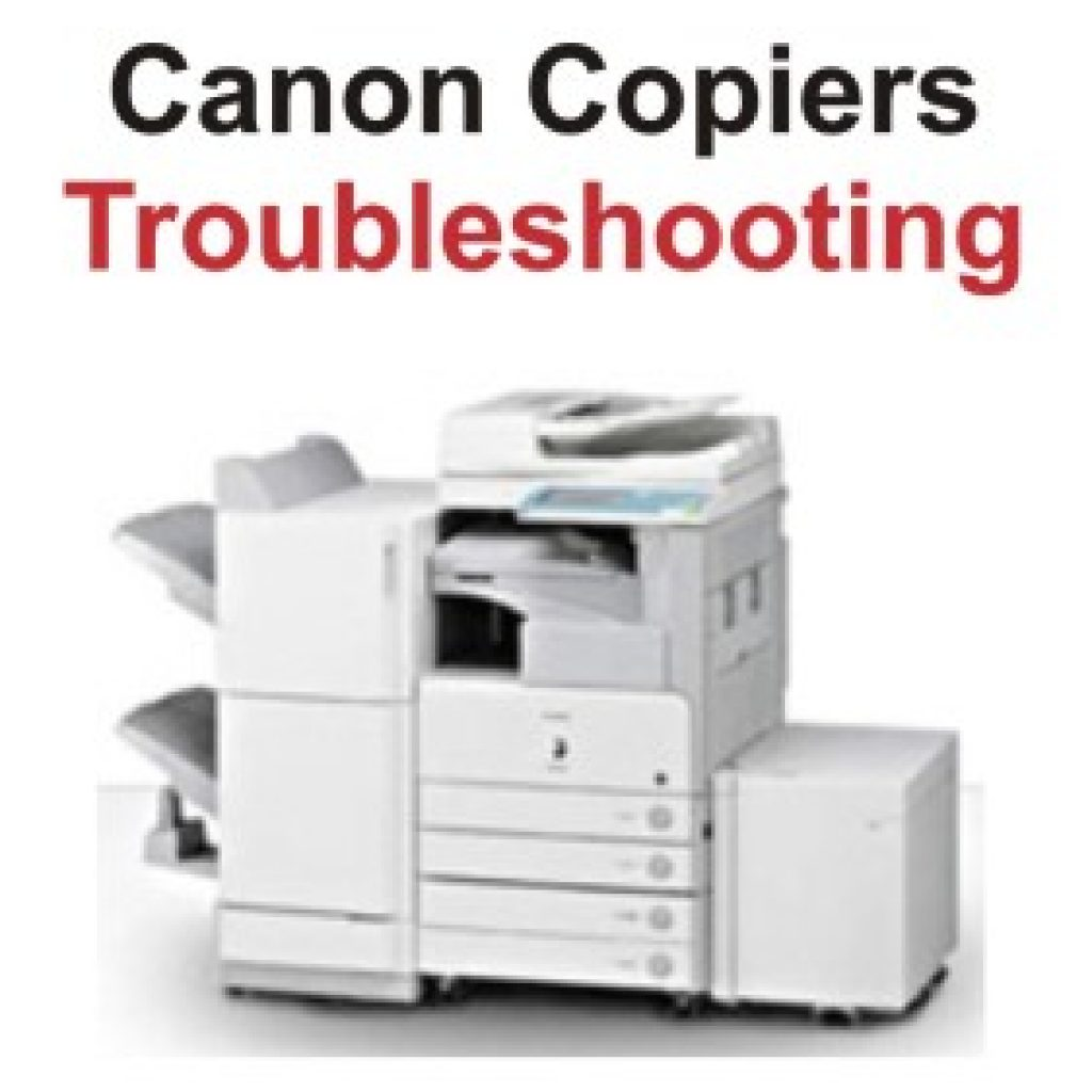 Troubleshooting a Canon photocopier