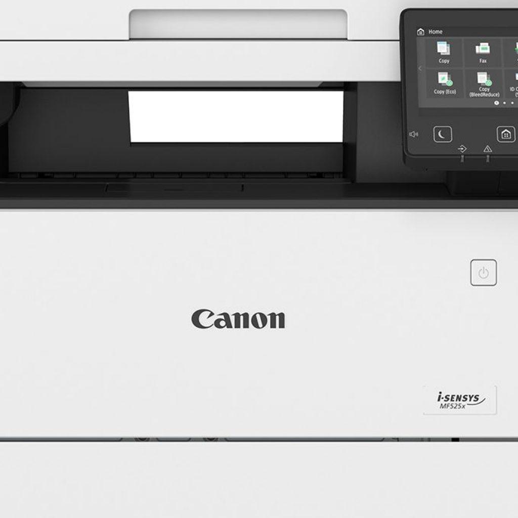Close up view of a canon i-sensys printer