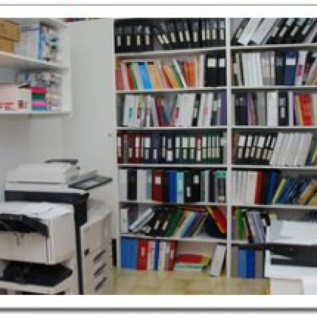 Photocopier room with files