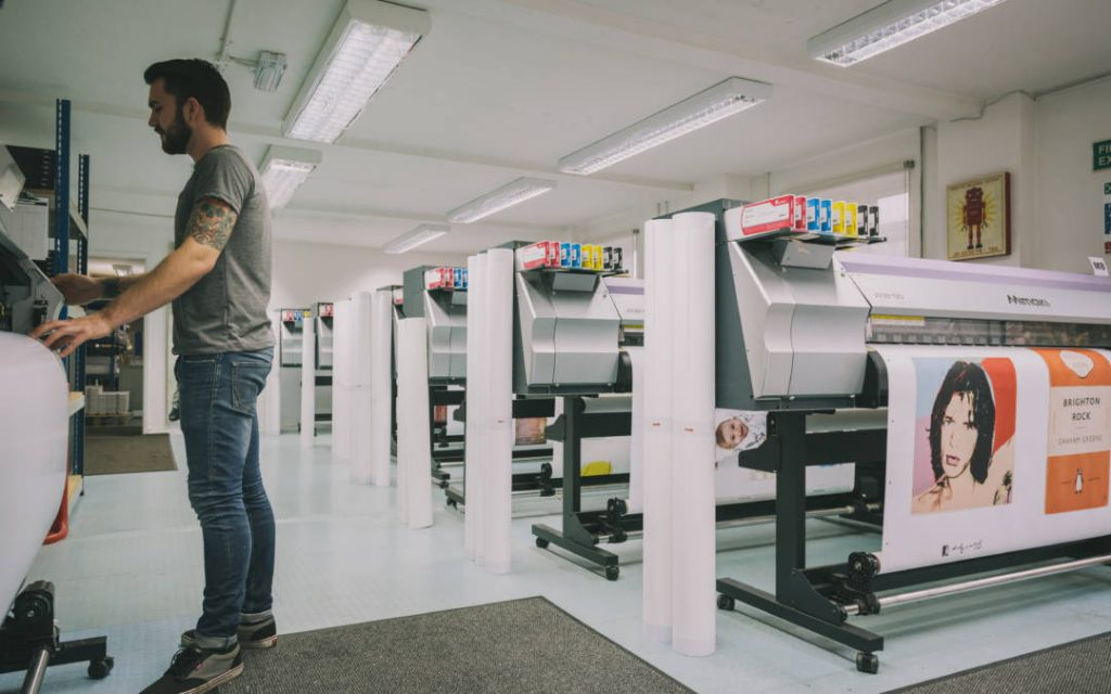 Large scale printing operations for posters