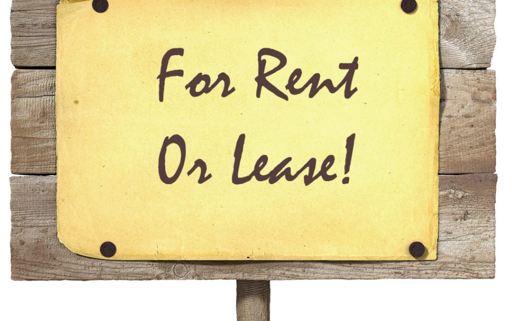 Graphic with sign stating for rent or lease
