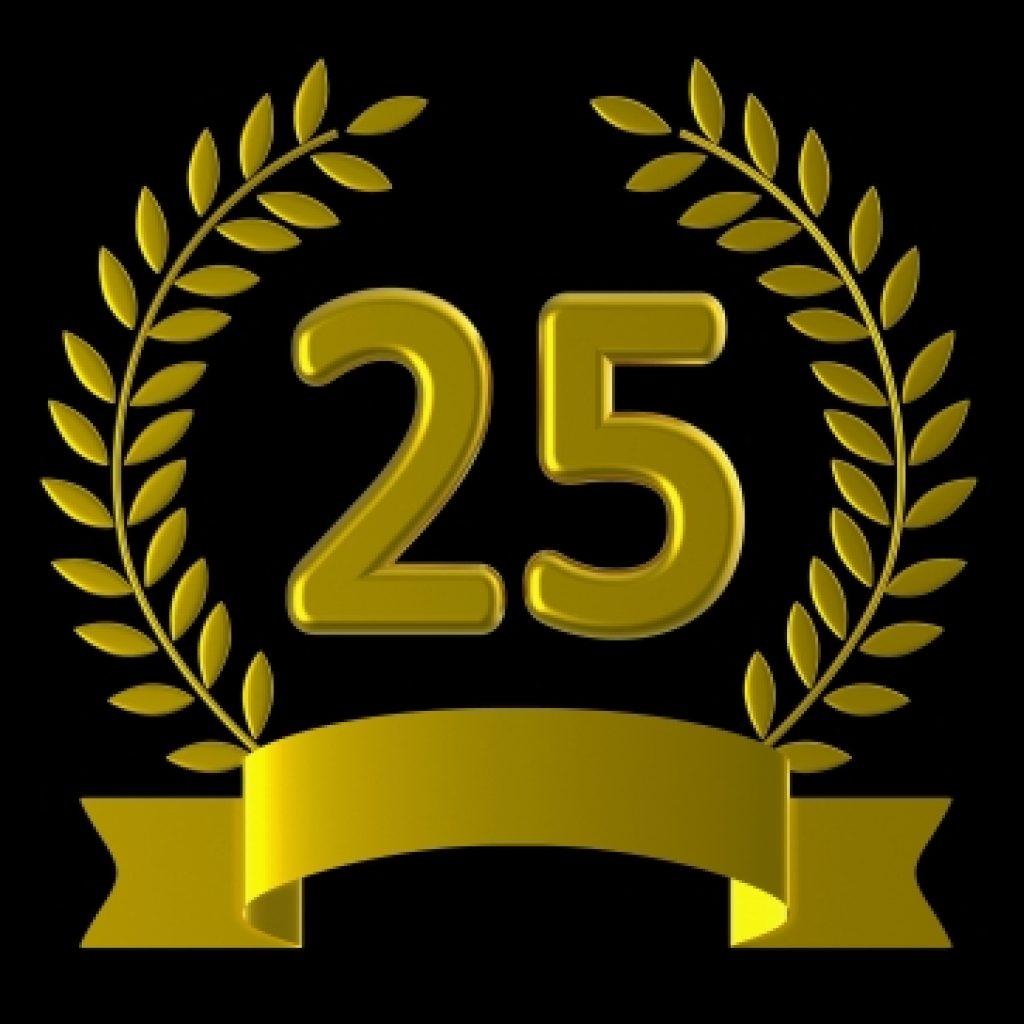 25 years celebrations icon